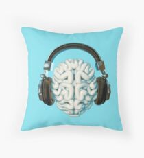 Mind Music Connection Throw Pillow