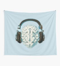 Mind Music Connection Wall Tapestry