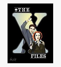 The X-files Comic style Photographic Print