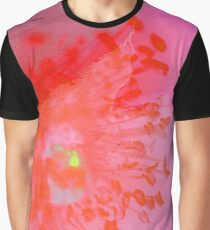 Pink Flower Abstract Graphic T-Shirt