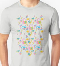 Candy Cartoon Print 80s T-Shirt