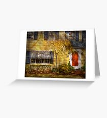 The little yellow house Greeting Card