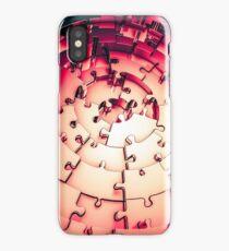 Metal Puzzle RETRO RED iPhone Case/Skin