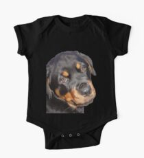 Female Rottweiler Puppy Making Eye Contact Vector  Kids Clothes