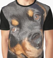 Female Rottweiler Puppy Making Eye Contact Vector  Graphic T-Shirt