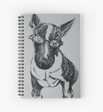 Cool Bull terrior Spiral Notebook