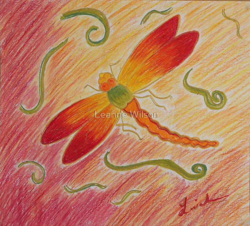 Red Dragonfly by Leanne Wilson