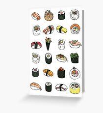 Sushi pattern Greeting Card