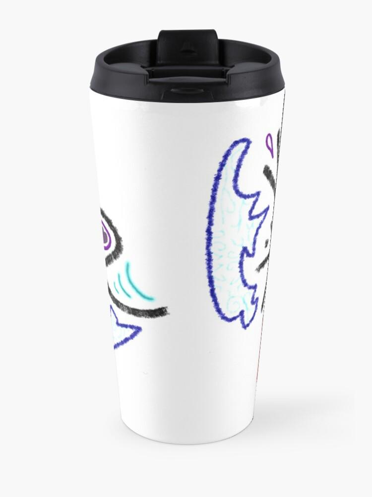 Alternate view of Merch #1 -- Rustic Tribal Cyclops Insignia Travel Mug