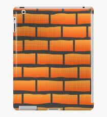 Orange Grunge Brick Wall.  Orange Brick Pattern. iPad Case/Skin