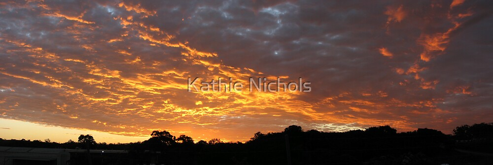 Golden Cloud Tapestry by Kathie Nichols