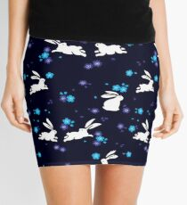 Japanese Bunny - Blue Mini Skirt