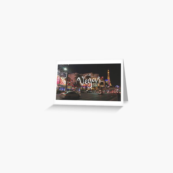 Vegas Baby!  Greeting Card