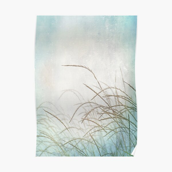 Grasses in the wind Poster