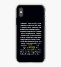 how i met your mother classic  iPhone Case