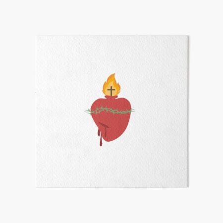 Sacred Heart of Jesus Art Board Print