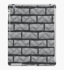 Grunge Grey Wall.  Abstract Grey Brick Pattern. iPad Case/Skin