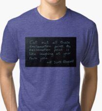 Exclamation Points - F Scott Fitzgerald Tri-blend T-Shirt