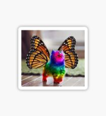 Rainbow Butterfly Unicorn Kitten Sticker