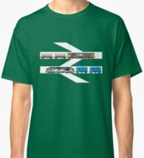 Class 58 and Class 37 freight trains print Classic T-Shirt