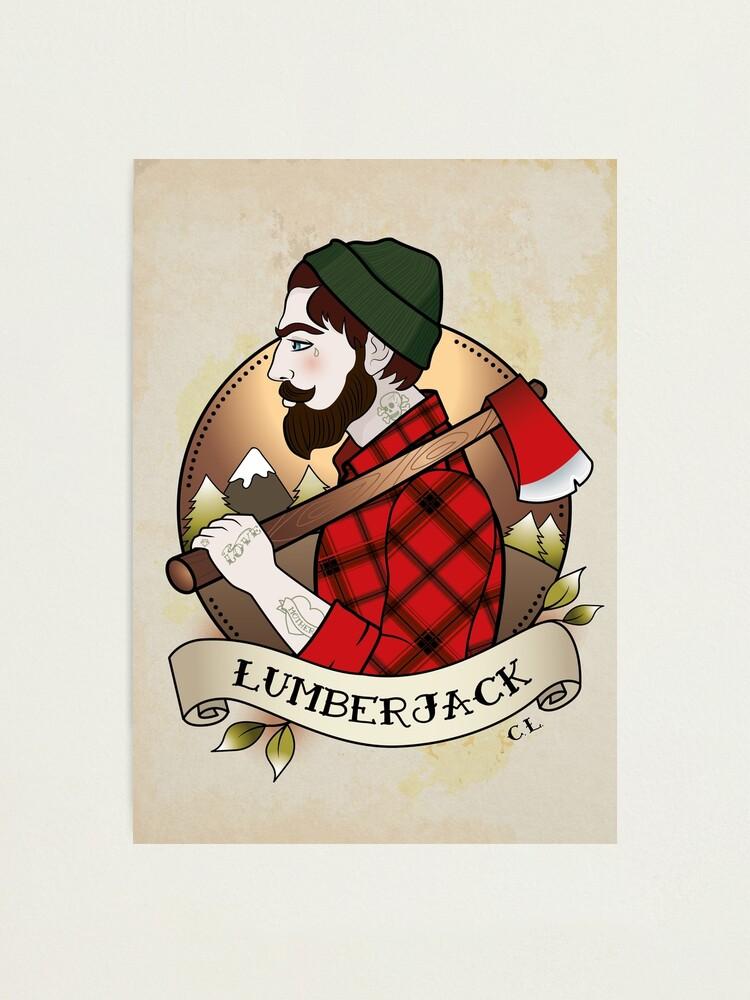 Alternate view of Lumberjack Photographic Print