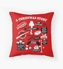 Christmas Story Quotes Throw Pillow