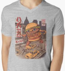 BurgerZilla Men's V-Neck T-Shirt