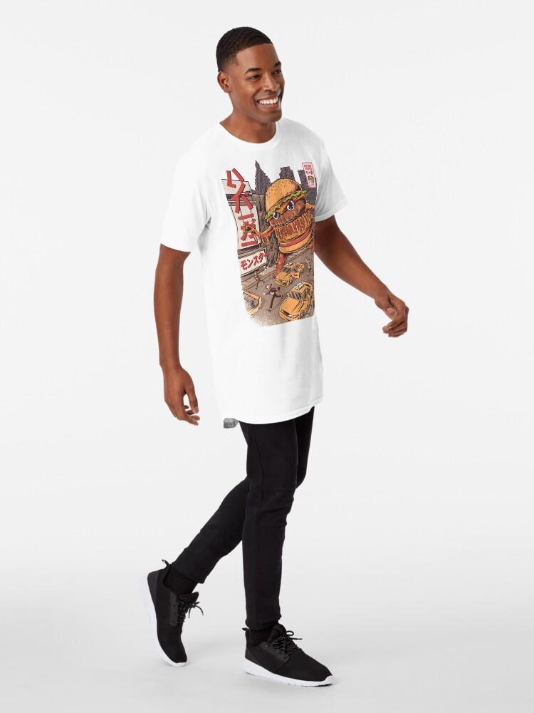 Alternate view of BurgerZilla Long T-Shirt