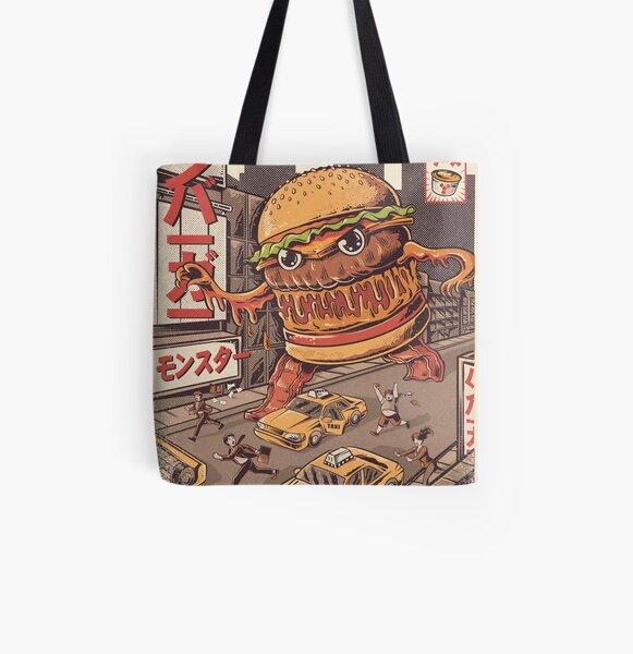 BurgerZilla All Over Print Tote Bag