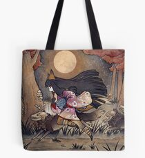 Running With Monsters - Kitsune Fox Yokai  Tote Bag
