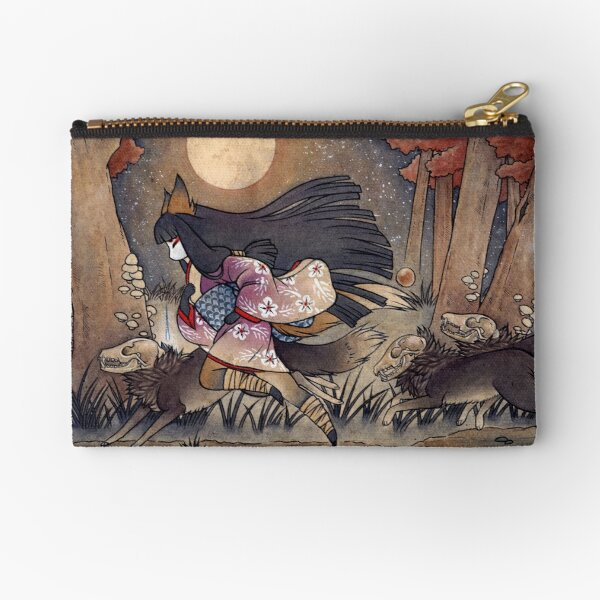 Running With Monsters - Kitsune Fox Yokai  Zipper Pouch