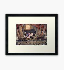 Running With Monsters - Kitsune Fox Yokai  Framed Print