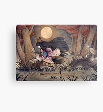 Running With Monsters - Kitsune Fox Yokai  Metal Print