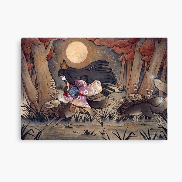 Running With Monsters - Kitsune Fox Yokai  Canvas Print