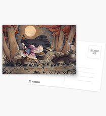Running With Monsters - Kitsune Fox Yokai  Postcards