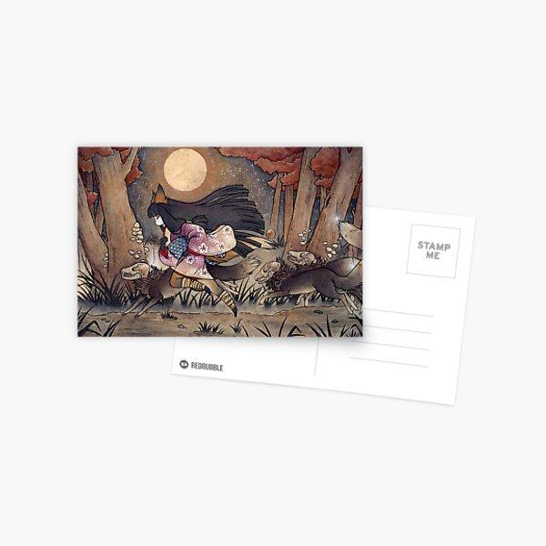 Running With Monsters - TeaKitsune Fox Yokai  Postcard