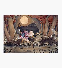 Running With Monsters - Kitsune Fox Yokai  Photographic Print