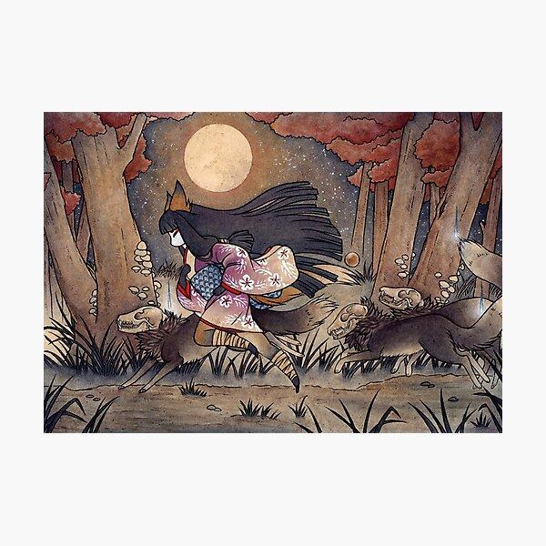 Running With Monsters - Kitsune Fox Yokai  Photographic Print