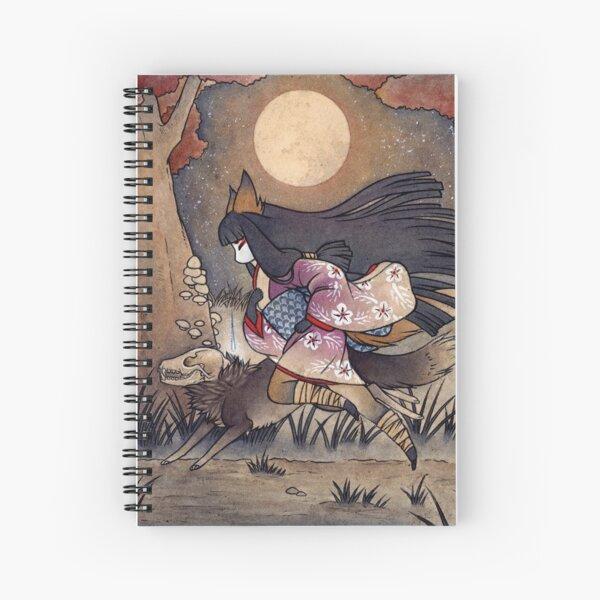 Running With Monsters - Kitsune Fox Yokai  Spiral Notebook