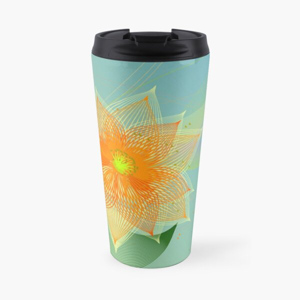 Fancy colorful abstract flower Travel Mug