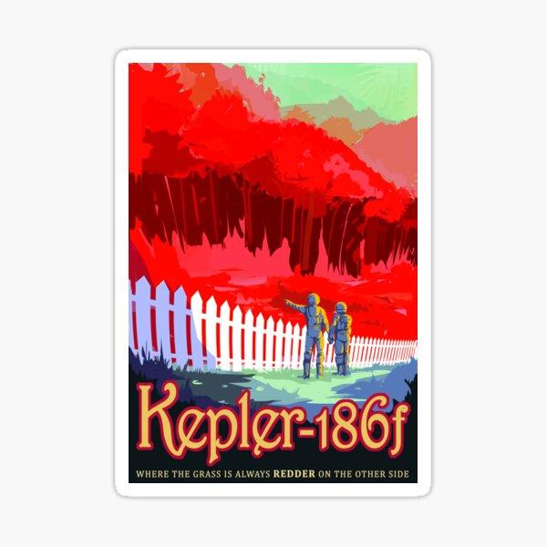 NASA/JPL Visions of the Future- Kepler 186f Sticker