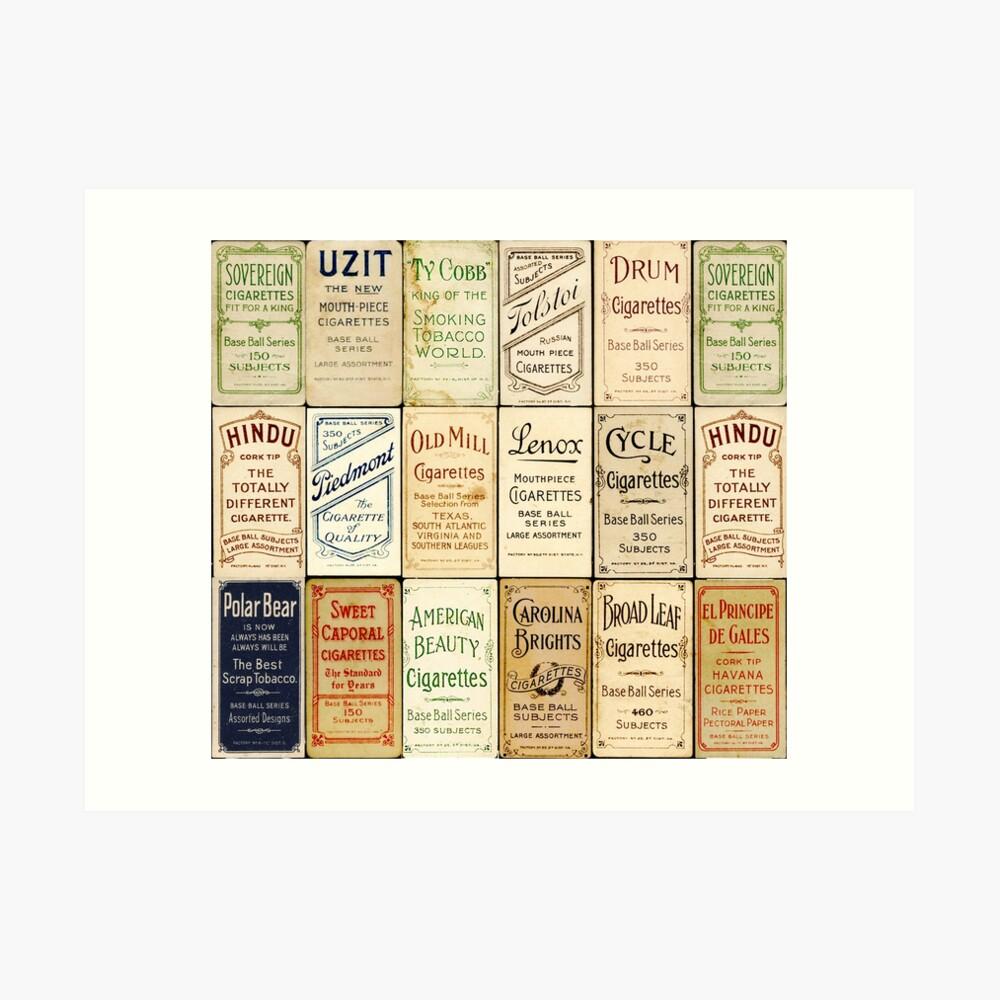 The T206 Baseball Cards Collector design! Art Print