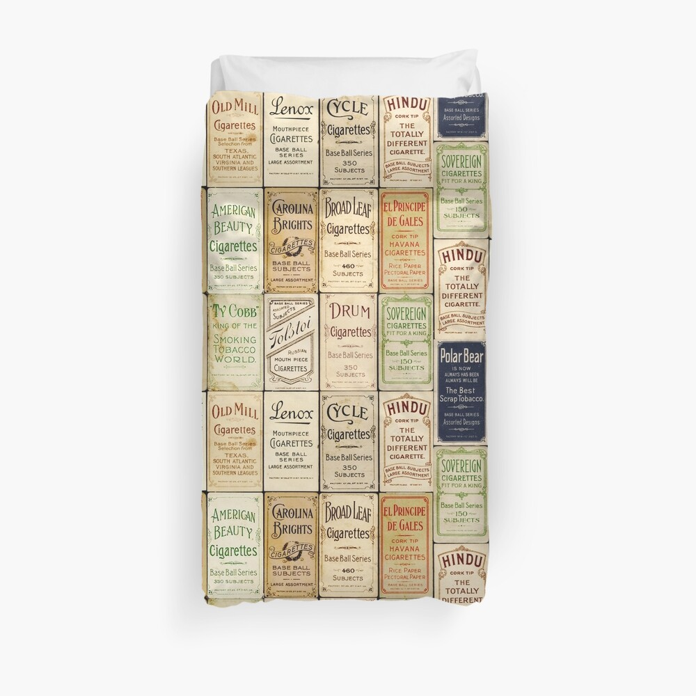 The T206 Baseball Cards Collector design! Duvet Cover