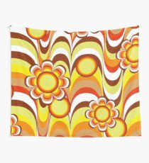 Groovy 60s Psychedelic Flower Wall Tapestry