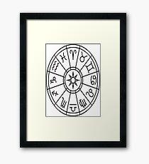 Zodiac Circle Framed Print