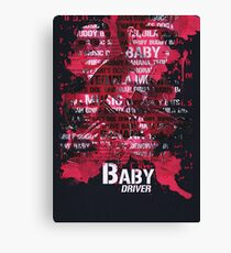 Baby Driver Movie Poster Canvas Print