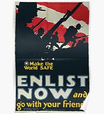 Make the world safe Enlist now and go with your friends 002 Poster