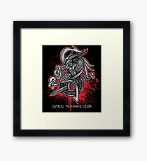 Dragon Slayer (Grey) Framed Print