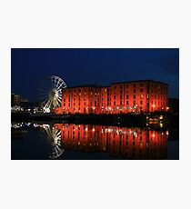 Night time in Salthouse Dock Photographic Print