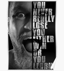 Conor McGregor - Win or Learn Poster